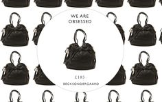 Today we are OBSESSED with...  Becksondergaard X-Canada Black Large Leather Bag £135    Shop: http://www.miinto.co.uk/p-18023-becks-ndergaard-x-canada-large-leather-bag-in-black