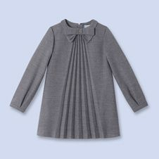 Pleated flannel dressfor boys and girls,Girl