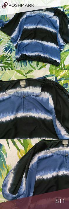 Converse | Blue Tie Dye Summer Top Worn once, no flaws. Caftan / Batwing -ish sleeves. Converse Tops