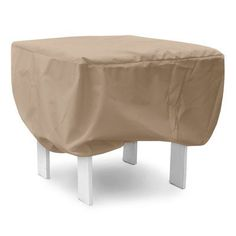 """KoverRoos Weathermax Ottoman/Small Table Cover Size: 16"""" H x 26"""" W x 26"""" D, Color: Toast"""