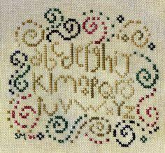 Bent Creek Swirlygig cross-stitch - free(chart in other pin)