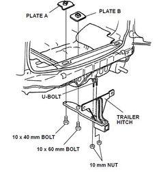 Front suspension diagram for HONDA CR-V RD Mk1 (4WD Wagon