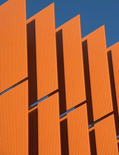 Perforated metal architectural sunscreens