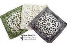mini 3d granny square - Google Search Crochet Blocks, Granny Square Crochet Pattern, Afghan Crochet Patterns, Crochet Squares, Crochet Motif, Knitting Patterns Free, Free Crochet, Knit Crochet, Granny Squares