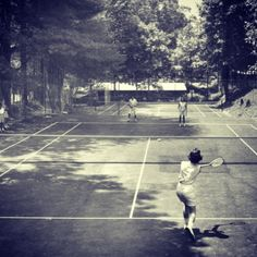 TAW girls playing tennis in the 50's!