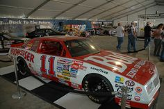 Terry Labonte's 1987 Chevrolet Monte Carlo Aerocoupe on display at Lowe's Motor Speedway for the Coca-Cola 600 Nascar Cars, Nascar Racing, Auto Racing, Race Cars, Terry Labonte, Chevrolet Monte Carlo, Motor Speedway, Ol Days, Car And Driver