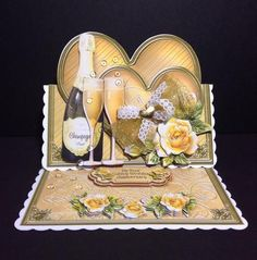 "Card Gallery - Birthday & Golden Wedding Anniversary 8"" x 8"" Easel Card Kit"