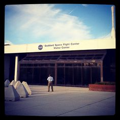 Outside NASA's Goddard Space Flight Center in Greenbelt, MD, before the Earthscapes dedication ceremony.