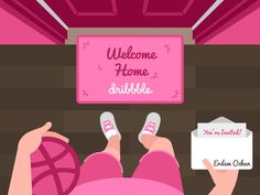 Welcome home! - Dribbble first shot by Chiara Claus