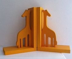 Pair of Yellow / Orange Bookends  custom colors by ProfessorFinley