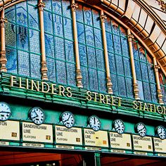Melbourne Series - The Clocks, Flinders Street Station