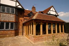 Oak Sun Rooms, Orangeries, Garden Rooms and Conservatories - 773: Timber extension. Bespoke oak framed garden room used to enhance this buil...