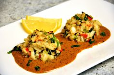 Just a Taste » Crab Cakes with Cajun Lobster Sauce    Copycat recipe of Del Friscos famous crabcakes