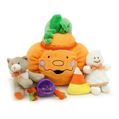 My First Pumpkin Play Set by Genius Baby Toys. $19.95. Spider - Rattles. Candy Corn - Crinkles. Pumpkin Halloween Developmental Playset includes four fun play pieces:. Ghost - Squeaks. Cat - Meows. GB-33 Cute pumpkin - Halloween developmental play set comes with four fun play pieces Features: -Pumpkin carrying case. -Ghost squeaker. -Cat meows. -Spider rattles. -Candy corn crinkles. -Birth and up.