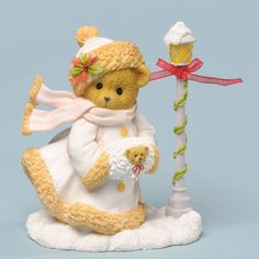 NIB Cherished Teddies Hollie Christmas Stroll in The Season's Splendor 4.25""