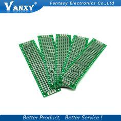5 pz 2x8 cm 2*8 Double Side PWB del Prototipo fai da te Universale Printed Circuit Board Spedizione gratuita