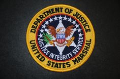 United States Department of Justice - Marshal Patch