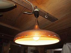 昭和の懐かしい 吊り下げ照明 アルミ傘_傘を塗装して赤やグリーンにしてみては。