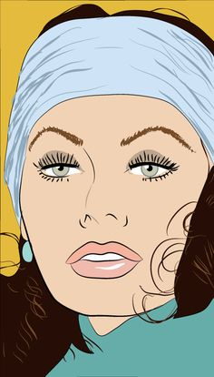 Sophia-Loren Digital Portrait, Digital Art, Sketch Pad, Celebrity Portraits, Portrait Illustration, Sophia Loren, Graphic Design Illustration, Famous People, Illustrator