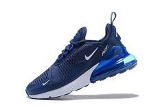 17bd5fed26d0e Mens Nike Air Max 270 Flyknit Sneakers Midnight Navy Black White AH8050 400  New Nike Air