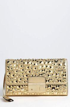 Michael Kors 'Gia' Studded Leather Clutch