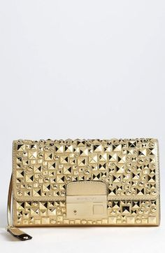 Michael Kors 'Gia' Studded Leather Clutch