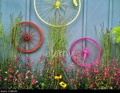 Al's Nursery. Al's Nursery. Sherwood, Oregon Stock Photo, Picture and Royalty Free Image. Bicycle Rims, Bicycle Decor, Bicycle Wheel, Bicycle Art, Bike Wheels, Garden Center Displays, Sherwood Oregon, Garden Whimsy, Gardens