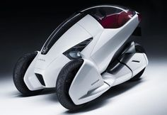 Futuristic vehicle, Honda 3R-C, three-wheeled vehicle, electric motorcycle