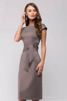 Платье-футляр бежевое без рукавов в интернет-магазине 1001DRESS