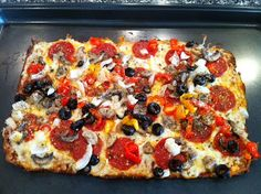 Greek Pizza and Other Variations...   Peace, Love, and Low Carb