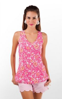 Lilly Pulitzer GALE TANK PRINTED - CHUM BUCKET | The Pink Pelican