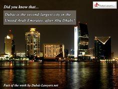 New Fact of the Week from our lawyers in Dubai #factoftheweek www.dubai-lawyers.net