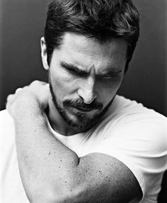 Christian Bale- fell in love with him in Little Women and Batman sealed the… Batman Begins, Looks Black, Black And White, Pretty People, Beautiful People, Beautiful Person, Simply Beautiful, Raining Men, Attractive Men