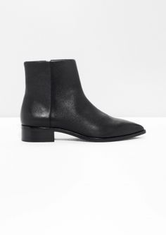 & Other Stories image 1 of Pointy Chelsea Boots  in Black