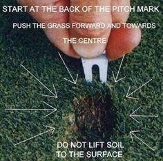 Golf School (@GolfSchoolGB) on Twitter Repairing a Divot.