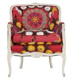 Suzani Bedding | Love this Suzani upholstered chair, featured a while back on Apartment ...
