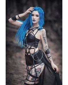 model: @bluexastrid outfit: @askasublue photographer: @anetapawska 💀 Welcome to #GothicandAmazing 💀