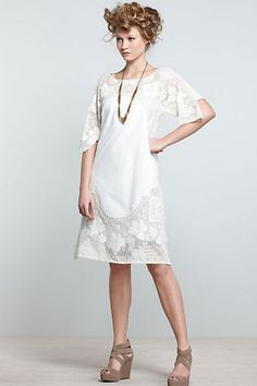 Place Nacionale for Anthropologie. One of a kind dress made from vintage lace. Sold out of course. Beautiful design.