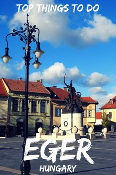 Eger Hungary is a small historical town with pastel-colored houses, beautiful squares, monuments and loads of history and is an easy day trip from Budapest.