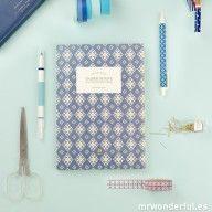 Libreta pautada mediana – Azul #mrwonderful #notebook #home #office #basics #libreta