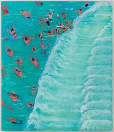 Katherine Bradford: Fear of Waves (oil on canvas)