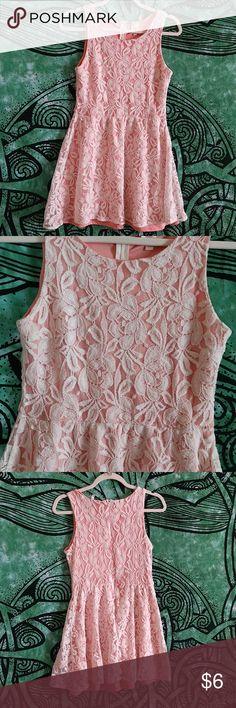 1871a201746 White Lace  Pale Pink Slip Mini Dress White Lace  Pale Pink Slip Mini Dress