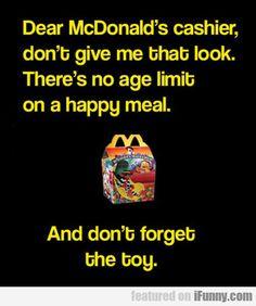 Dear Mcdonald's Cashier...
