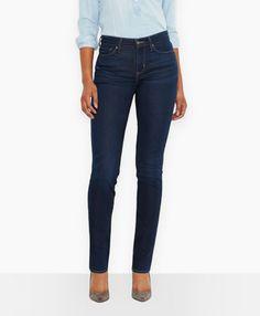 Demi Curve Straight Jeans, 30W, 32L $88
