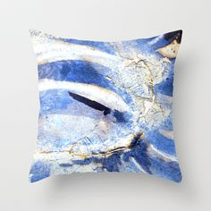 ink top, blue Throw Pillow by seb mcnulty - $20.00