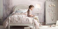 Belle Upholstered Platform Bed Collection   Restoration Hardware Baby & Child