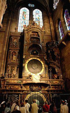 Strasbourg Astronomical Clock in Cathédrale Notre-Dame ~ Strasbourg, Alsace, France
