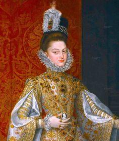 Alonso Sanchez Coello (Spanish painter, c 1531-1588) Infanta Isabella Clara Eugenia (1566–1633) Detail