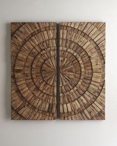 """Shop """"Lanciano"""" Wall Medallion at Horchow, where you'll find new lower shipping on hundreds of home furnishings and gifts. Flooring On Walls, Eclectic Artwork, Medallion Wall Decor, Wall Clock Design, Copper Art, Wood Art, Metallica, Art Pieces, Tapestry"""