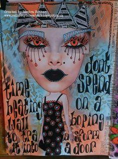 Sharon Botham on THE DYAN REAVELEY SOCIETY OF ART JOURNALING Gateway Group. ♡♡ the eyes!!